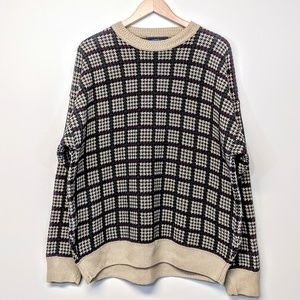 Other - Cotton Houndstooth Sweater